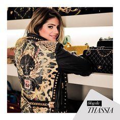 Rooaarrr! Jacket by Tigresse Renata Figueiredo, blogger Thassa Naves. #winter #fashion #brazilianness www.brazilianness.com