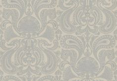 Malabar (66/1003) - Cole & Son Wallpapers - An elaborate metallic silver design of paisley fan shapes on a soft grey base. Perfect for feature walls – available in other colours. Please ask for a sample for true colour. Paste-the-wall product.
