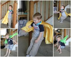 """Super hero cape for dress up    To Make use skirt front pattern piece, ribbon for neck with Velcro or a band with magnets in the neck to ensure easy release.  Sizing/Cape Measurement:  Newborn:12""""x14""""   Baby: 16""""x18""""   Toddler: 20""""x22"""" (Fits Toddler 6-18mo)  Child: 21"""" x 26.5"""" (Fits children ages 2-7)"""