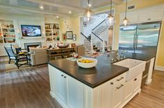Living Room Kitchen Open Floor Plans And Living Room Designs