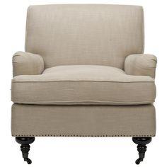 Safavieh Mercer Chloe Club Chair, Beige & Tan