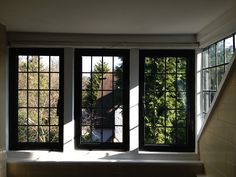 Stylish Anderson Egress Windows: Anderson Egress Windows With Black Frame  Also White Paint Wall For Home Interior Design