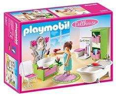 Playmobil – 5307 – Salle de bains et baignoire: Top ! brushing enfin un brushing réussi ! Contient : – Une femme avec serviette de bain –…