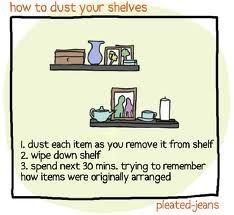 huishoudelijke tips - afstoffen van planken