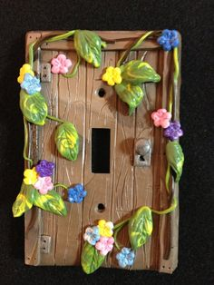 Polymer Clay Light Switch Plate Cover: