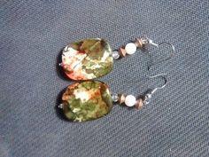 multicolored earrings.