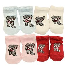 Creative Knitwear University of Alabama Crimson Tide Pink Script A Newborn Baby Booties