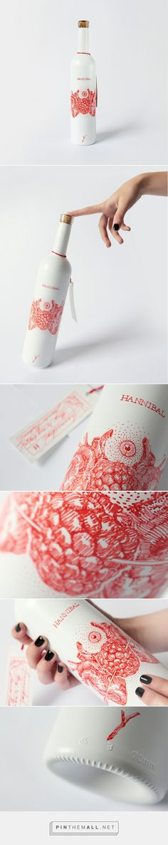 Hannibal Wine Bottle (Concept) - Packaging of the World - Creative Package Design Gallery - http://www.packagingoftheworld.com/2016/12/hannibal-wine-bottle.html