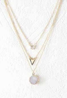 Rhinestone Layered Chain Necklace | Forever 21 - 1000145499                                                                                                                                                     More
