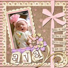 It's a Priceless Life: Birth scrapbook page