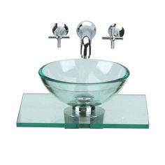 Unique Tempered Glass Wall Mount Vessel Sink Clear Durable Green Tint No  P Trap | Wall Mount, Home And Shops