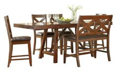 Standard Furniture Omaha 6-Piece Counter-Height Dining Set | Homemakers Furniture