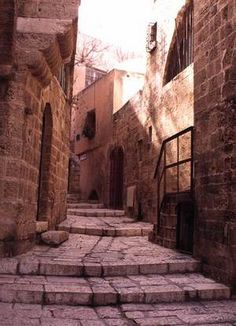 long and steep streets of Jaffa.....Tel Aviv