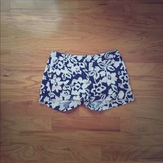 New York & Company white and blue flowery shorts Incredibly comfortable shorts in near perfect condition. Basically new. Worn only a 3-4 times due to the fact that they were a gift and have always been too big in the waist for me. They are an adorable pair of shorts with no marks, tears, rips, or imperfections of any kind. New York & Company Shorts