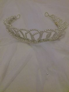 Medieval Bridal Tiara by Jalall, $125.00 - Wedding Dept Hobby Lobby look 4 wired pearls!