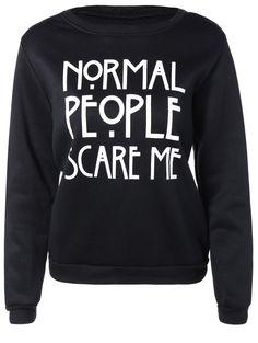 $8.22 Letters Pullover Sweatshirt