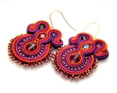 twisted sisters    soutache earrings  free shipping by KimimilaArt