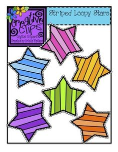 FREEBIE ALERT! This set has six vibrant stars- perfect for any themed resource or labels! All files are in png formats. These vibrant images are perfect for creating color activities for little learners.