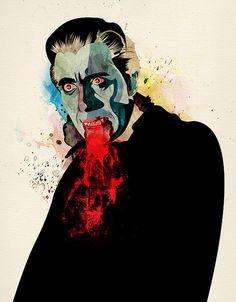 Classic Horror Icons by Alvaro Tapia Hidalgo Arte Horror, Horror Art, Horror Movies, Illustrations, Illustration Art, Art Vampire, Real Vampires, Ghost In The Machine, Art Prints Online