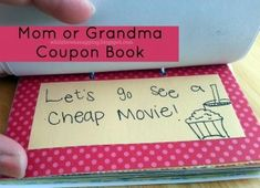 Gift for mom or grandma - kid's activity coupon book.  Give the gift of time together.  Free printable included.