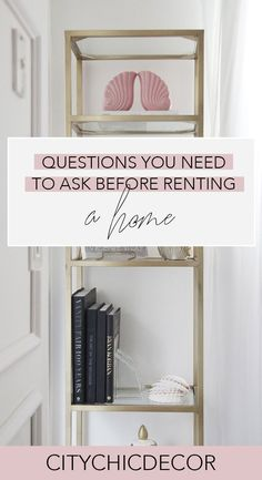 Questions You Need to Ask Before Renting a Home - City Chic Decor Studio Apartment Decorating, Rental Decorating, Home Decor Quotes, Home Decor Pictures, Retro Chic, Unique Home Decor, Cheap Home Decor, City Chic, Cheap Bedroom Decor