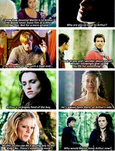 "Merlin's loyalty, everyone's noticed<--but they left out Arthur, the most important one!! ""You're a loyal friend, Merlin."""