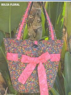 Maripê: Molde de bolsa floral