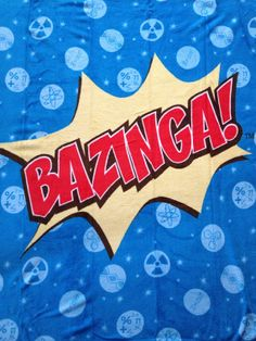 Bazinga Big Bang Theory Blanket by pd006 on Etsy, $55.00