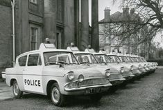 Ford Anglia: Life before Harry Potter British Police Cars, Old Police Cars, Transport Images, Emergency Vehicles, Police Vehicles, Monte Carlo Rally, Ford Anglia, Driving School, Ford Escort