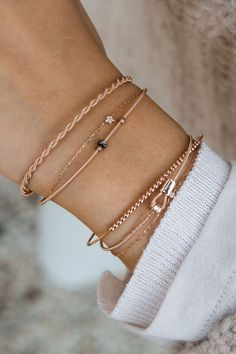extraordinary materials & even more extraordinary designs - we ❤️ our bracelets made from guitar strings #bracelets #jewellery #rosegold #musical WWW.NEWONE-SHOP.COM