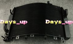 Motorcycle Accessories !Aluminum Motorcycle Radiator For SUZUKI 2004 2005 GSXR 600 750 04 05 Black,free shipping!