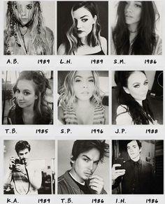 The Liars & their birth years. #BabySasha (: