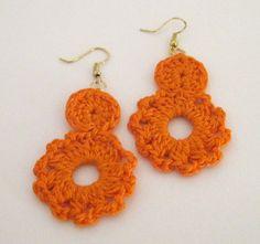 Dangling Cluster Crochet Earrings by DivaStitchesCrochet on Etsy, $6.00
