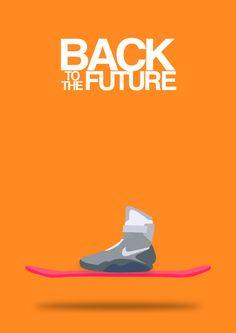 Back to the Future (1985) ~ Minimal Movie Poster by Halil Beydilli #amusementphile