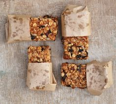 Anja's Food 4 Thought: Almond Butter Granola Bars - GF, sweetened with mashed banana