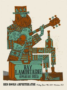 RAY LAMONTAGNE -SUITCASE REDROCKS « Limited Edition Gig Posters « Methane Studios