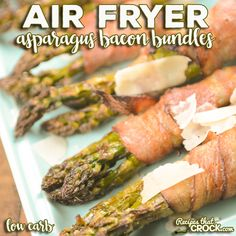 Recipes That Crock! - cRockin' Slow Cooker Recipes All Year 'Round! Delicious crock pot recipes for Pot Roast, Pork, Chicken, soups and desserts! Try our famous crockpot recipes! Air Fryer Recipes Keto, Air Fryer Dinner Recipes, Pot Roast Recipes, Side Dish Recipes, Bacon Wrapped Asparagus, Fresh Asparagus, Homemade Chicken And Noodles, Bacon Wrapped Chicken Bites, Atkins Recipes