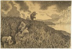 "Theodor Kittelsen - Illustration for ""Troldskap"""