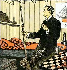 Der schwarze Peter (Black Peter) erschien erstmals 1904 im Strand Magazine und wurde 1905 mit 12 anderen Fällen in Die Rückkehr des Sherlock Holmes veröffentlicht. Handlungszeitpunkt: Juli 1895