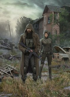 This painting shows the location of the game's Creek Stalker Call of P. Theme of the GSC for STALKER CoP - Creek Post Apocalypse, Apocalypse Survivor, Apocalypse World, Cyberpunk, Fallout, Cthulhu, Mad Max, Arte Zombie, Character Inspiration