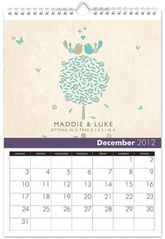 personalized December Anniversary gift ideas Personalized Anniversary Gifts, Year Anniversary Gifts, Wedding Anniversary, Sitting In A Tree, Calendar, December, Great Gifts, Marriage, Gift Ideas