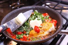 Menu Musings of a Modern American Mom: Tomato Basil Chicken. This is correct link to this dish.