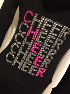 Rhinestone Cheer Hoodie Zip Up Jacket by Bowfriendz on Etsy, $34.99