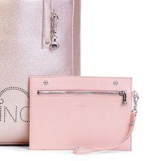 b16c12886 $169 Ansley Vegan Leather Tote Bag - Rose Gold Metallic/Soft Pink Combo  Mochilas,. Kipling