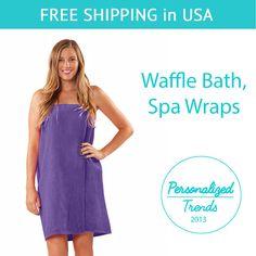 Women/'s WAFFLE Body WRAP 100/% Turkish Cotton with Pocket for Bath Spa Gym Sauna