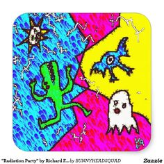 """""""Radiation Party"""" by Richard F. Yates. Super fancy glossy stickers!!!"""