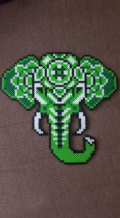 Elephant perler beads by LadyRaveicorn