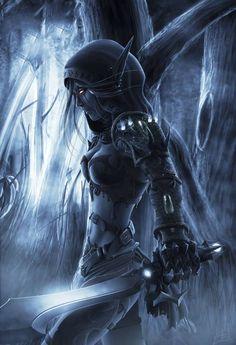 Drow Elf by Kalleruna ~Gothic Art