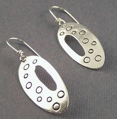 Hey, I found this really awesome Etsy listing at https://www.etsy.com/listing/74167961/mod-circles-elliptical-sterling-silver