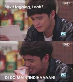 in the midst of a heartbreak, we still make life funny. on the wings of love ~~ abscbn and dreamscape production with nadine lustre and james reid. directed by jojo saguin and tonette jadaone James Reid, Nadine Lustre, Jadine, Cute Couples, How To Look Better, Love, Filipino, Memes, Funny